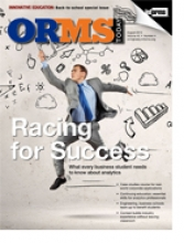 Cover of the August 2013 issue of OR/MS Today Magazine